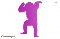 Angry Gorilla Tattoo Silhouette Illustration