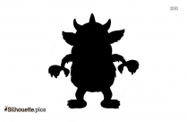 Cartoon Monsters Silhouette Image And Vector