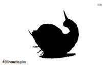 Cartoon Mothra Larva Silhouette