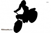 Electric Scooter Silhouette Clipart