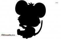 Cartoon Mouse Silhouette Illustration
