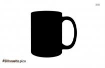 Cartoon Mug Silhouette Illustration