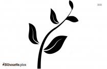 Flower Plant Decor Silhouette Clipart