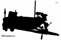 Cartoon Nitro Bass Boats Silhouette