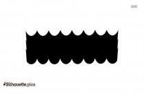 Cartoon Ocean Waves Silhouette