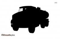 Cartoon Oil Tanker Silhouette Vector Picture