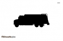 Free Cartoon Hauling Truck Silhouette, Clipart