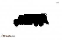 Cartoon Oil Tanker Truck Cartoon Silhouette