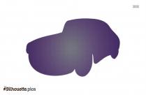 Happy Cartoon Car Silhouette Clip Art