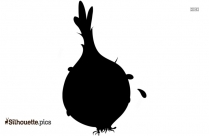 Cartoon Onion Silhouette Free Vector Art