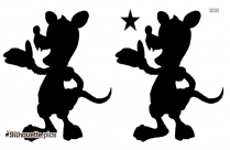 Cartoon Opossum Silhouette Free Vector Art