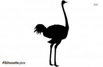 Cartoon Ostrich Art Silhouette