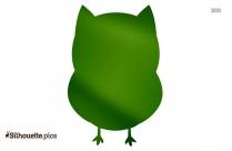 Cartoon Owl Face Silhouette