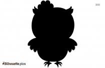 Cartoon Owl Silhouette Clipart Image