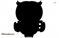 Cartoon Owl Silhouette Vector,