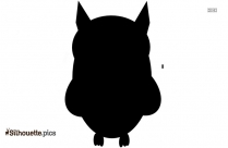 Cartoon Owl Silhouette Image And Vector