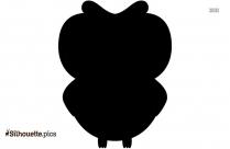 Cartoon Owl Silhouette Vector,
