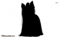 Cartoon Painted Yorkshire Terrier Silhouette Picture
