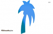 Palm Trees Silhouette Drawing