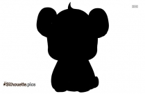 Cartoon Panda Silhouette Image And Vector