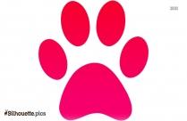 Cartoon Panther Paw Print Silhouette
