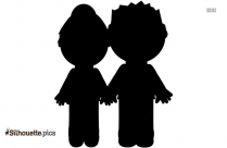 Cartoon Parents Silhouette
