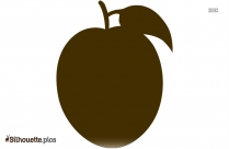 Peach Fruit Silhouette Clip Art Download