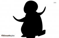 Cartoon Penguin Silhouette Background