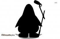 Sad Penguin Silhouette Free Vector Art