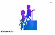 Couple Walking Silhouette Art