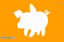 Pig Head Clip Art, Silhouette