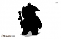 Cute Pig With Flower Silhouette