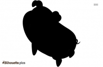 Cartoon Pig Silhouette Background Image