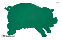 Funny Cartoon Pig Clipart Silhouette