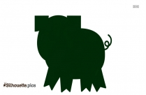 Funny Pig Silhouette Image And Vector