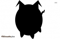 Cartoon Pig Silhouette Background Image For Free
