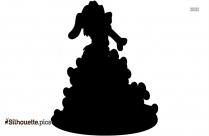 Cartoon Pile Of Bones Silhouette Icon