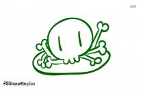 Head Bone Clipart || Anterior Skull Bone Silhouette