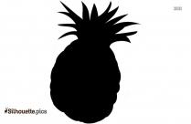 Cartoon Pineapple Fruit Silhouette