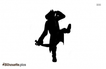 Pirate With Parrot Silhouette Image And Vector