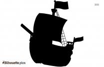 Cartoon Pirate Ship Silhouette Picture