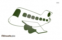 Cartoon Plane Logo Silhouette For Download