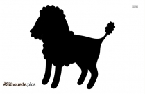 Cartoon Poodle Silhouette Image And Vector