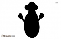 Cartoon Potato With Hands And Cap Silhouette Picture