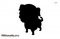 Mean Dog Cartoon Silhouette