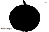 Pumpkin Silhouette Clipart Icon