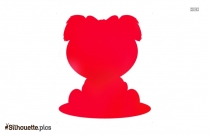 Cute Cartoon Dog Silhouette Art Image
