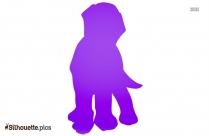Cartoon Puppy Silhouette Illustration