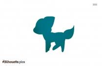 Princess Puppy Silhouette Image