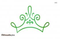 Cartoon Queen Crown Stencil Silhouette